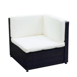 Yescom Outdoor PE Rattan Wicker Corner Sofa Chair Seat Cushioned UV Protection Patio Backyard Garden Furniture