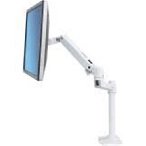 Ergotron 45-537-216 32 in. LX Desk Tall Pole Mount Monitor Arm for Monitor, Bright White