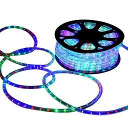 DELight 150 FT RGBY 2 Wire LED Rope Light Indoor Outdoor Home Holiday Valentines Party Disco Restaurant Cafe D¨¦cor