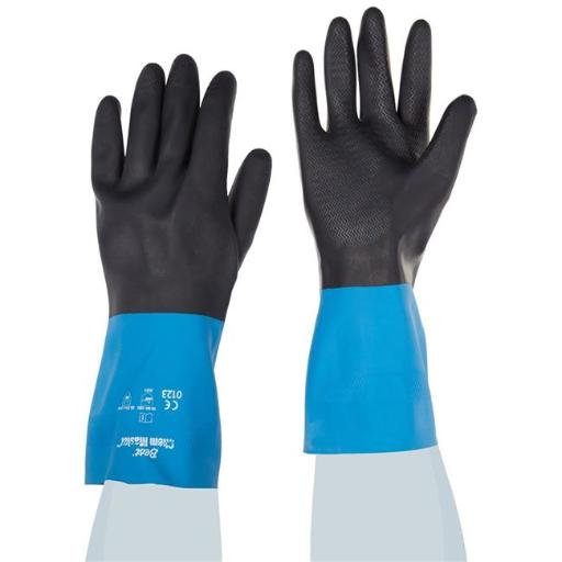 Best Glove 845-CHMXL-10 Neoprene Over Natural Rubber Glove, Chemical Resistant - Extra Large