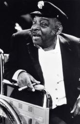 Count Basie smoking in a wheelchair Photo Print GLP350317LARGE