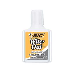 Bic usa inc 12 ea bic witeout quick dry wofqd12whibn