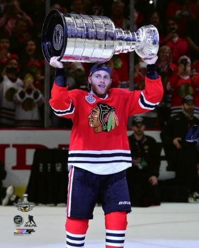 Patrick Kane with the Stanley Cup Game 6 of the 2015 NHL Stanley Cup Finals Photo Print C6MUBIVG1QBNRYRX