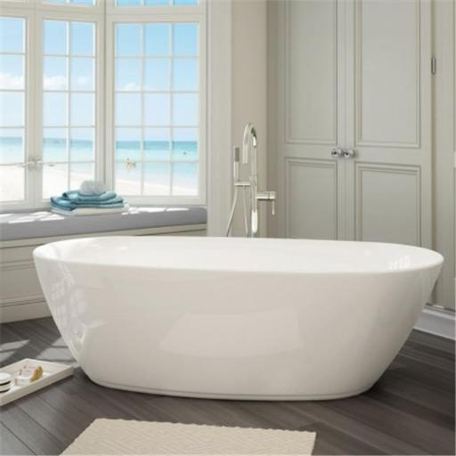 A And E Bath And Shower Sequana All-In-One Free Standing Tub Combo - White