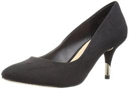 Call It Spring Women's Trescorre Dress Pump, Black Nubuck, 8 B US