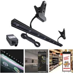 9W LED Light for Retractable Roll Up Banner Stand Adjustable IP65 Waterproof Clip On Display Lamp Trade Show Exhibition