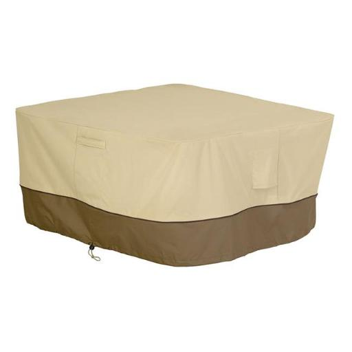 Classic Accessories 55-407-011501-00 Sq Fire Table Cover, Pebble
