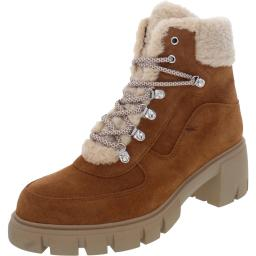 Steven Womens Henlie Leather Lugged Sole Winter Boots