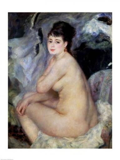 Nude Seated on a Sofa, 1876 Poster Print by Pierre-Auguste Renoir N6ITHXQUP4KZCFHM