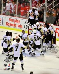 Pittsburgh Penguins Celebration Game 7 of the 2008-09 NHL Stanley Cup Finals Action PFSAALK08601