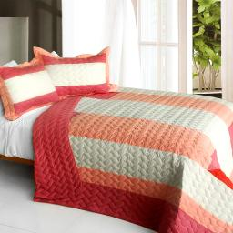 Ruby Ring 3PC Patchwork Quilt Set (Full/Queen Size)