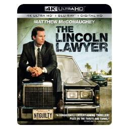 Lincoln lawyer (blu ray/4kuhd/ultraviolet/digital hd) (2discs) BR52334
