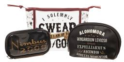 Harry Potter Solemnly Swear Up To No Good 3 Piece Makeup Case Set Travel Bag Kit