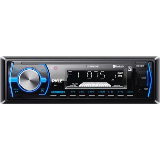 Pyle PLMRB29B Bluetooth In-Dash Stereo Radio Headunit Receiver, Wireless Music Streaming, Hands-Free Call Answering, MP3 Playback, USB & SD Card Reade