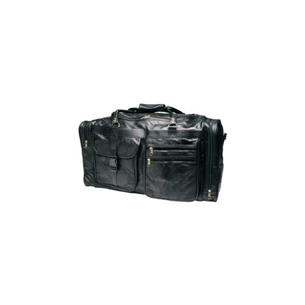Roadpro  Plb-004 26 Patchwork Leather Travel Bags  Black
