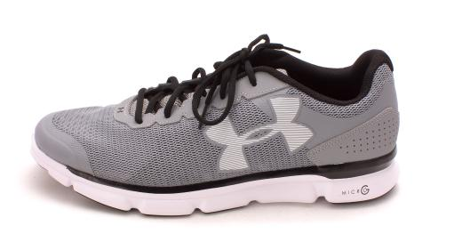 Under Armour Womens Micro G Speed Swift Low Top Lace Up, STL/WHT/BLK, Size 14 I543MOLBZMPJEZN3