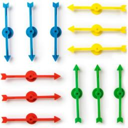 Arrow Spinners, Assorted - 12 Pack