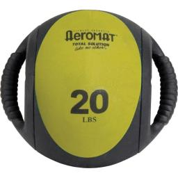 AGM Group-Aeromat Fitness Products AGM13720LB 9 in. dia. Dual Grip Power Medicine Ball, 20 lbs - Black & Olive