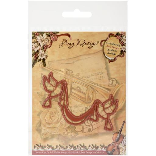 Find It Trading Amy Design Vintage Christmas Die Doves W/Sash