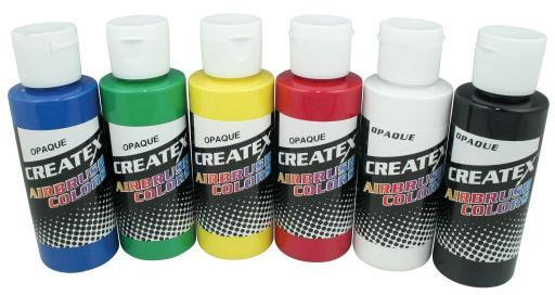 Createx Colors 5803 Airbrush Opaque Set 6X2Oz
