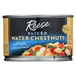Reese Water Chestnuts - Sliced - Case of 24 - 8 oz.