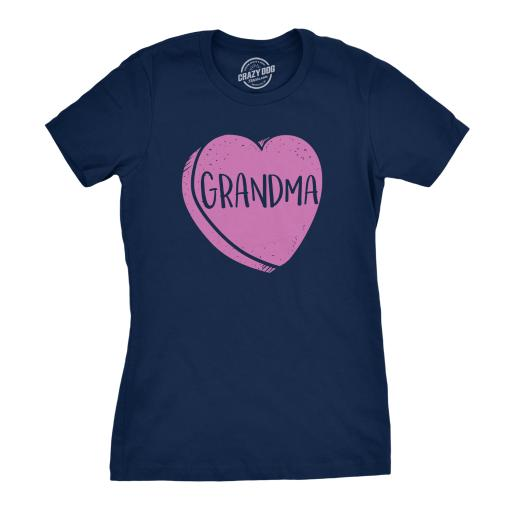 Womens Grandmas Candy Heart Funny Family Relationship Valentines Day T shirt