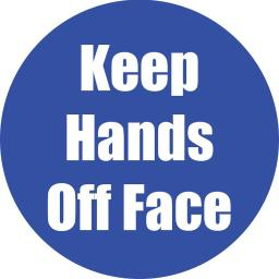 Flipside products keep hands off face blue anti-slip