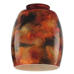 Westinghouse 8131100 2.25 in. Handblown Fire Pit Glass Shade