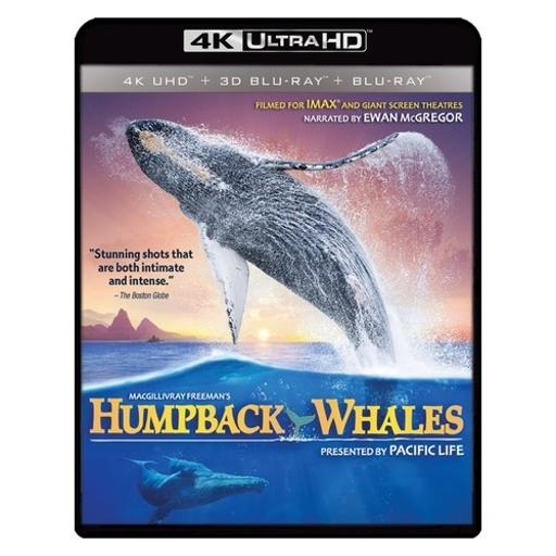 Humpback whales (blu-ray/4k-uhd mastered/ultraviolet/combo) (3-d) 1290948