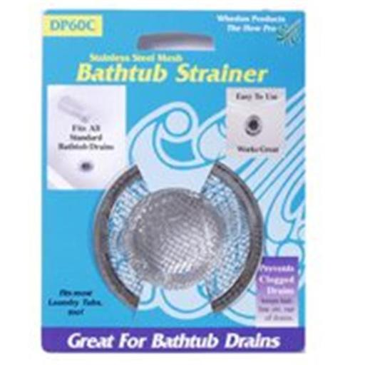 Whedon Products DP60C Stainless Steel Mesh Bathtub Strainer