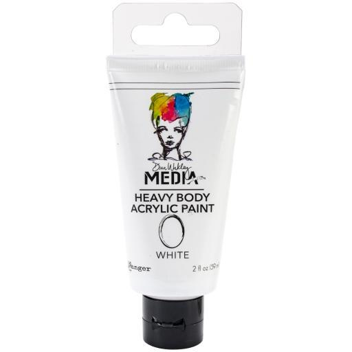 Dina Wakley Media Heavy Body Acrylic Paint 2oz-White