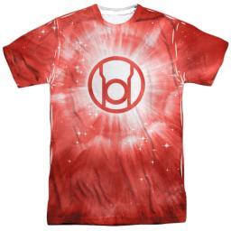 Green Lantern Red Energy Mens Sublimation Polyester Shirt WHITE