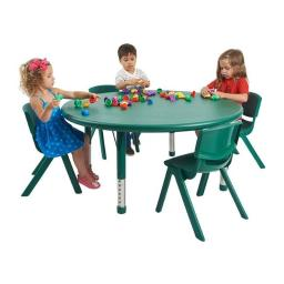 Early Childhood Resources ELR-14406-GN 45 in. Round Resin Adjustable Activity Table, Green