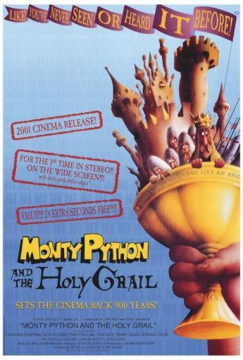 Monty Python and the Holy Grail Movie Poster Print (27 x 40) PQMR8EEZDVLNJGGC