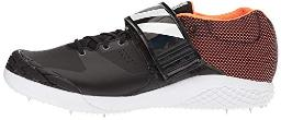 adidas Adizero Javelin Running Shoe, Core Black, Ftwr White, Orange, 15 M US