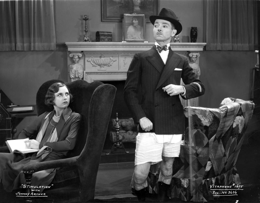 A publicity still of Johnny Arthur and Beatrice Blinn Photo Print