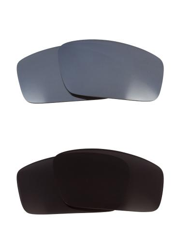 Best SEEK Replacement Lenses for Oakley SQUARE WIRE (2006) Black Silver Mirror