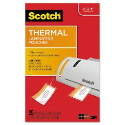 """Laminating Pouches 5 Mil 2.5"""" X 4.2"""" Gloss Clear 25 Per Pack   1 Pack of: 25"""