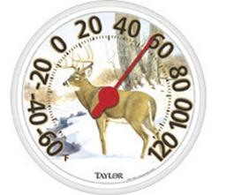 """Taylor 6709e Indoor/outdoor Thermometer 13-1/2"""", Black Bezel"""