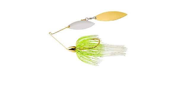 War eagle spinner baits we gold dbl wil spinnerbait wht cht we38gwr02