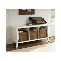 Crosley CF6002-WH Wallis Entryway Storage Bench in White