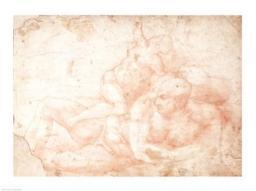 Study of a Male and Female Nude Poster Print by Michelangelo Buonarroti BALBAL42698LARGE