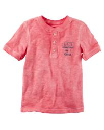 Carter's Baby Boys' Sunwashed Henley, 12 Months