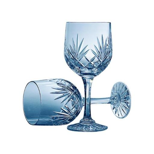 Creative Gifts International 060402 10 oz Medallion Lead Crystal Water Goblets - Pair