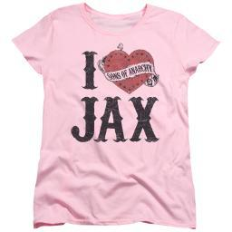 Sons Of Anarchy I Heart Jax Womens Short Sleeve Shirt