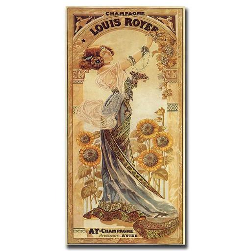 Champagne Louis Royer-Gallery Wrapped 24x47 Canvas Art