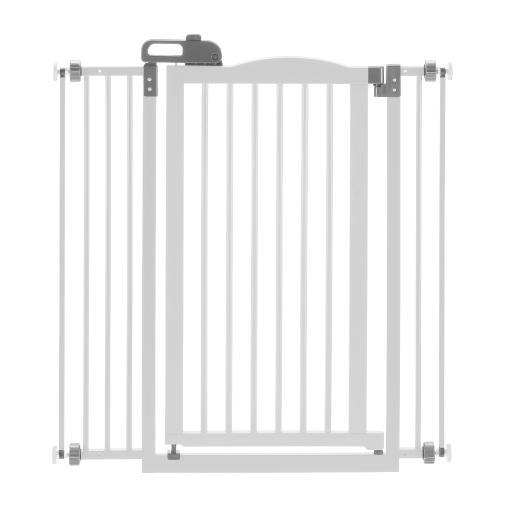 Richell 94931 White Richell Tall One-Touch Pressure Mounted Pet Gate Ii White 32.1 - 36.4 X 2 X 38.4
