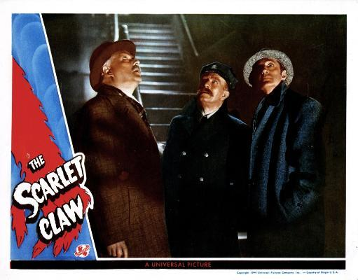 The Scarlet Claw From Left Nigel Bruce David Clyde Basil Rathbone 1944 Movie Poster Masterprint