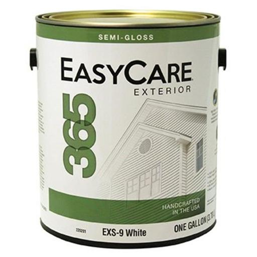 True Value Manufacturing 220201 1 gal EXS-9 Easycare 365 White Exterior Latex House Paint, Durable Acrylic Semi-Gloss