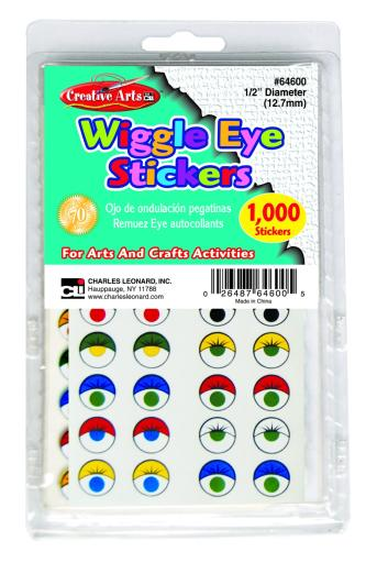 Creative Arts By Charles Leonard, Inc. Wiggle Eye Stickers - Assorted Styles And Colors(Pack Of 144)